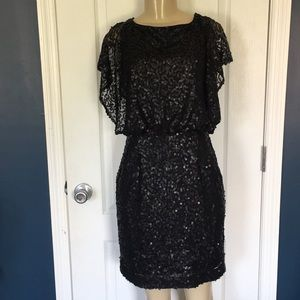 Awesome Jessica Simpson black sequin dress sz 8